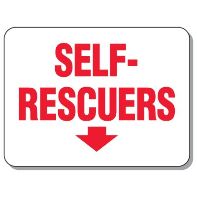 Giant Emergency & Evacuation Signs - Self-Rescuers