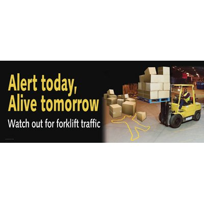 Motivational Banners - Alert Today Alive Tomorrow