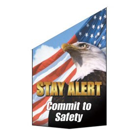 Motivational Pole Banners - Stay Alert Commit To Safety