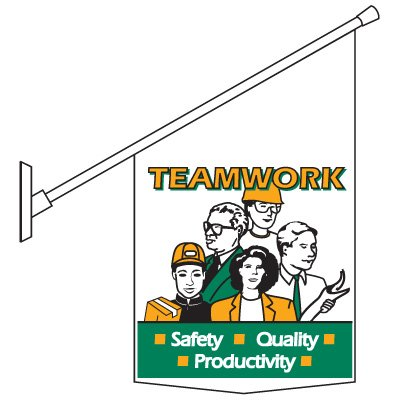 Motivational Banner and Pole Kit - Teamwork