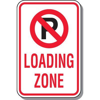 No Parking Signs - Loading Zone (No Parking Symbol)