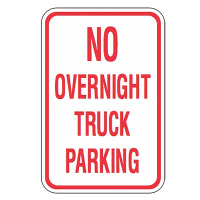 No Parking Signs - No Overnight Truck Parking
