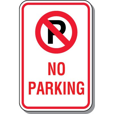 No Parking Signs - No Parking (With Symbol)
