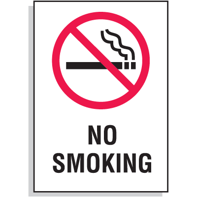 "No Smoking Signs 7""W x 10""H"