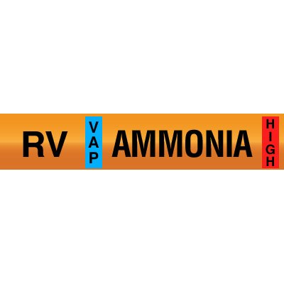 Opti-Code™ Ammonia Pipe Markers - Relief Vent