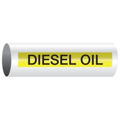 Opti-Code™ Self-Adhesive Pipe Markers - Diesel Oil