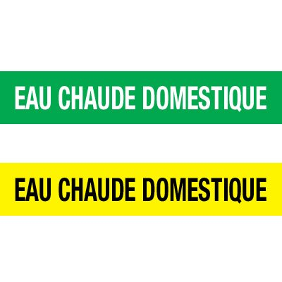 Opti-Code™ Pipe Markers - Eau Chaude Domestique
