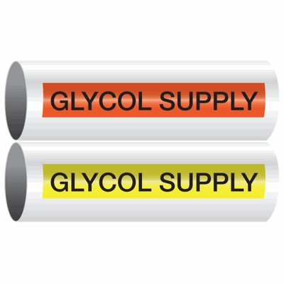 Opti-Code™ Self-Adhesive Pipe Markers - Glycol Supply