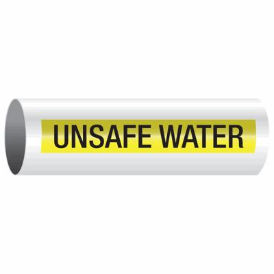 Opti-Code™ Self-Adhesive Pipe Markers - Unsafe Water