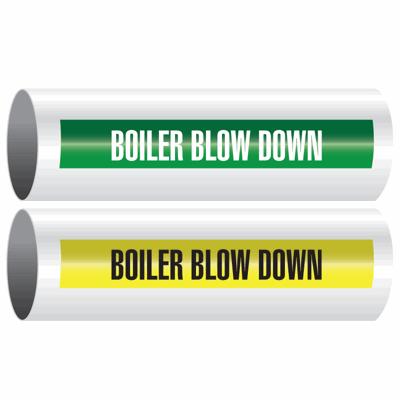 Opti-Code™ Self-Adhesive Pipe Markers - Boiler Blow Down