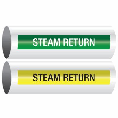 Opti-Code™ Self-Adhesive Pipe Markers - Steam Return
