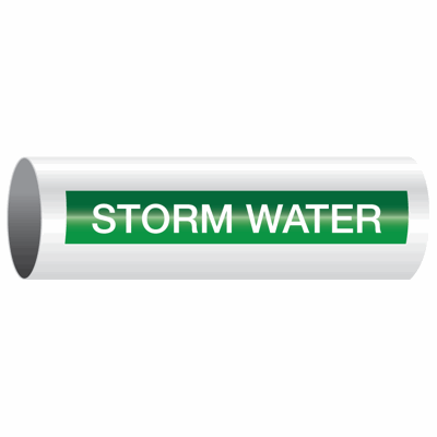 Opti-Code™ Self-Adhesive Pipe Markers - Storm Water