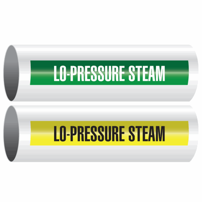 Opti-Code™ Self-Adhesive Pipe Markers - Lo-Pressure Steam