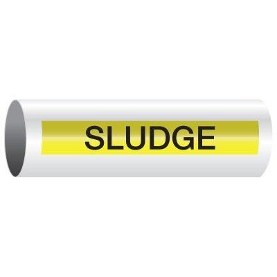 Opti-Code™ Self-Adhesive Pipe Markers - Sludge