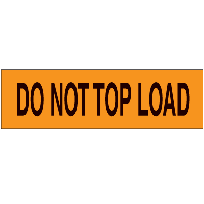 Do Not Top Load Pallet Labels