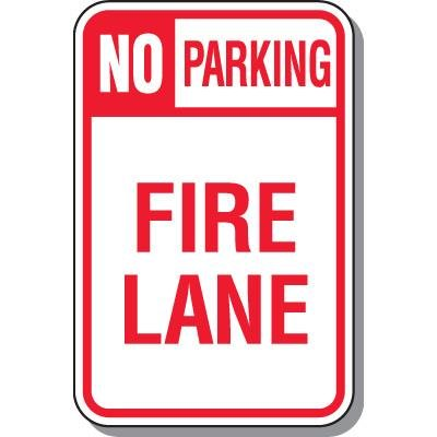 No Parking Signs - No Parking Fire Lane