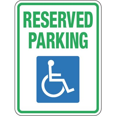 Pavement Message Signs - Reserved Parking With Symbol