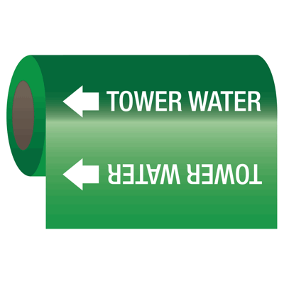 Self-Adhesive Pipe Markers-On-A-Roll - Tower Water