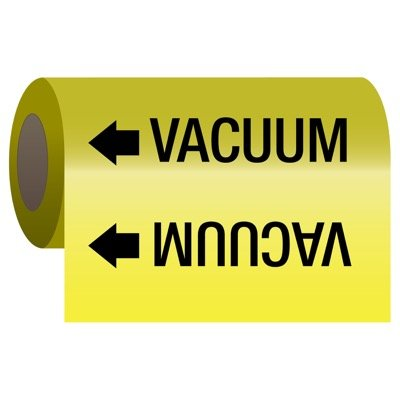 Self-Adhesive Pipe Markers-On-A-Roll - Vacuum
