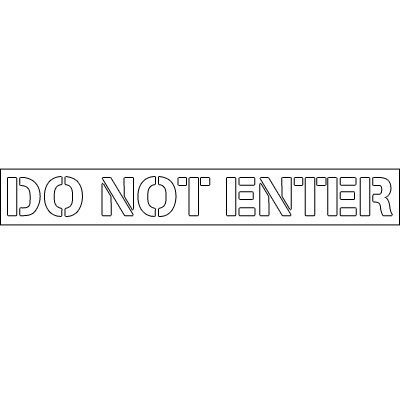 Plastic Word Stencils - Do Not Enter