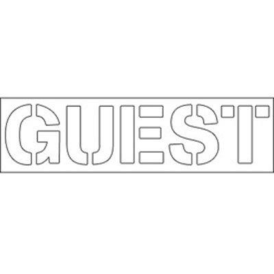 Plastic Word Stencils - Guest