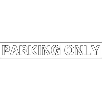 Plastic Word Stencils - Parking Only