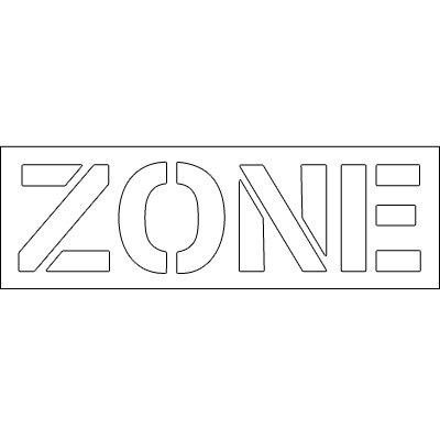 Plastic Word Stencils - Zone