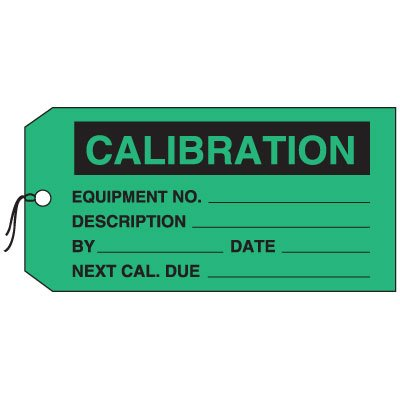 Production Control Tags - Calibration