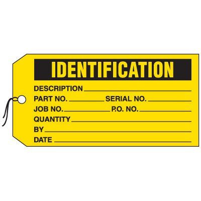 Production Control Tags - Identification