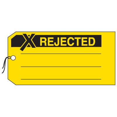Production Control Tags - Rejected