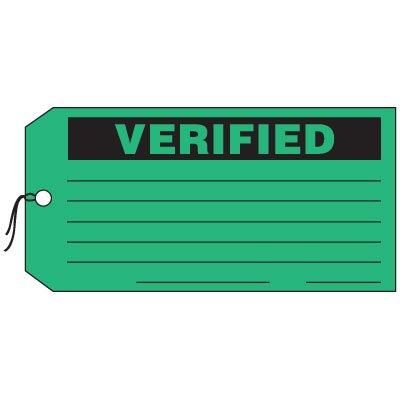 Production Control Tags - Verified