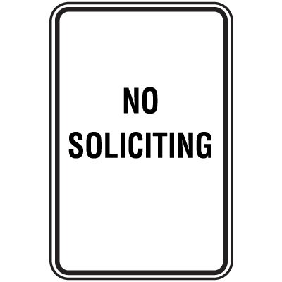 Property And Business Signs - No Soliciting