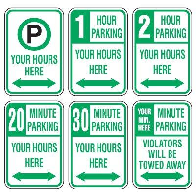Rapid-Ship Custom Parking Signs - Time Limit Parking