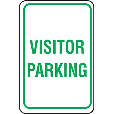 Plastic Parking Sign - Visitor Parking