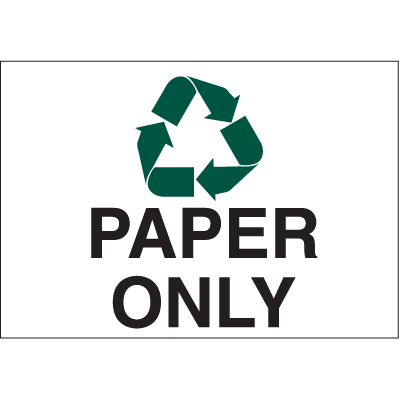 Recycling Labels - Paper Only