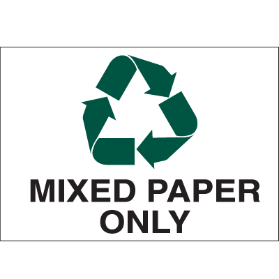 Recycling Labels - Mixed Paper Only