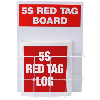 Red Tag Stations - 5S Red Tag Binder Center