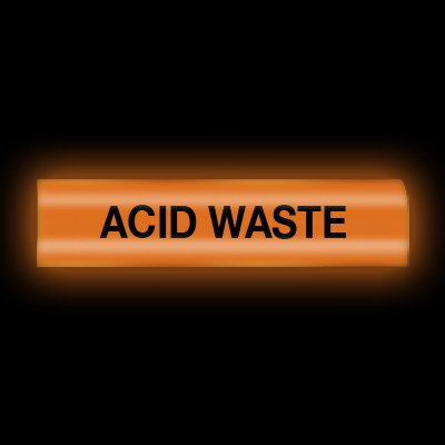 Reflective Opti-Code™ Self-Adhesive Pipe Markers - Acid Waste