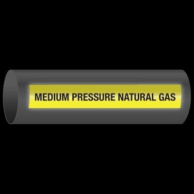 Reflective Opti-Code™ Self-Adhesive Pipe Markers - Medium Pressure Natural Gas