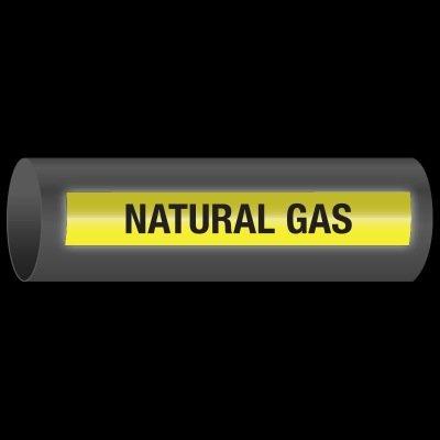 Reflective Opti-Code™ Self-Adhesive Pipe Markers - Natural Gas