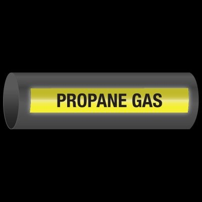 Reflective Opti-Code™ Self-Adhesive Pipe Markers - Propane Gas