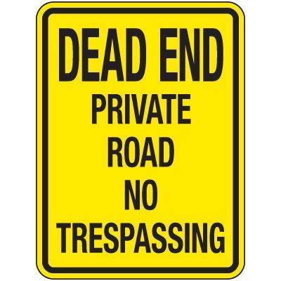 Reflective Parking Lot Signs - Dead End