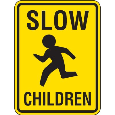 Reflective Pedestrian Crossing Signs - Slow Children