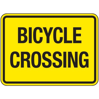 Reflective Pedestrian Signs - Bicycle Crossing