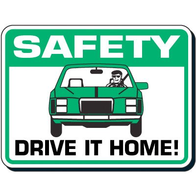 Reflective Seat Belt Signs - Safety Drive It Home!