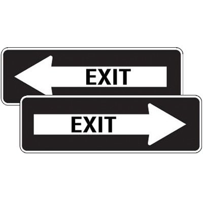 Reflective Left/Right Arrow Exit Signs