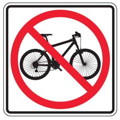 Reflective Traffic Reminder Signs - No Bicycle (Symbol)