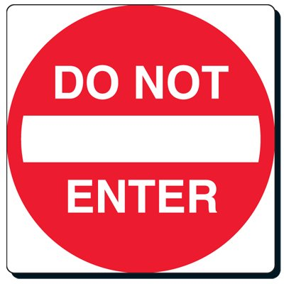Reflective Traffic Signs - Do Not Enter (With Symbol)