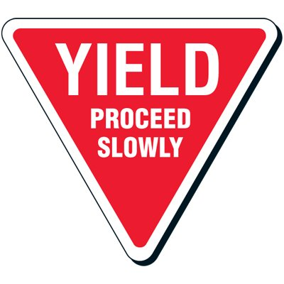 Yield Proceed Slowly Reflective Road Signs
