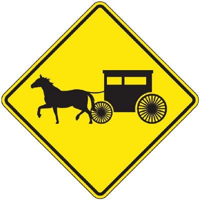 Reflective Warning Signs - Amish Buggy (Symbol)